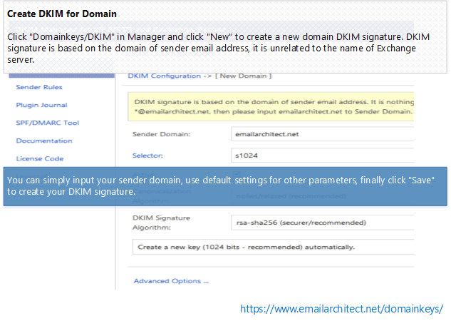 Create DKIM in Exchange Server 2007/2010/2013