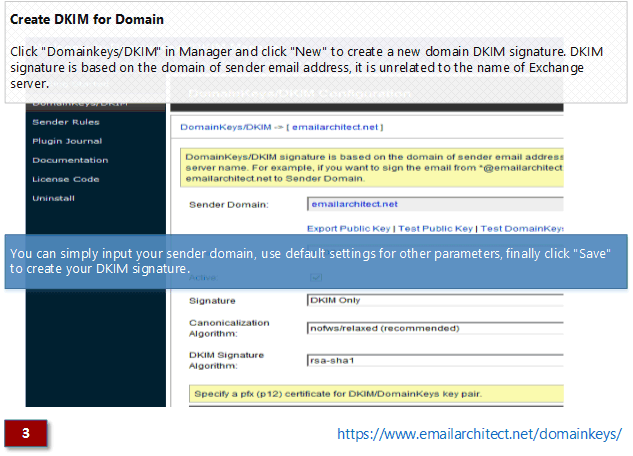 Creare DKIM per dominio - Exchange Server 2003