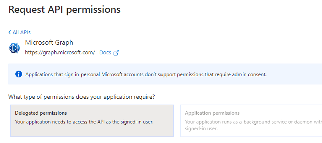 azure application SMTP/POP/IMAP api permission